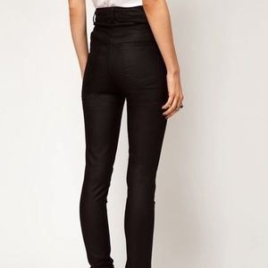 Just Female Jeans - Just Female Stroke High Waist Coated Skinny Jeans